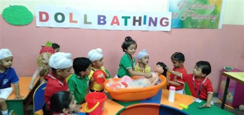 Doll bathing activity | AKSIPS 45 Chandigarh