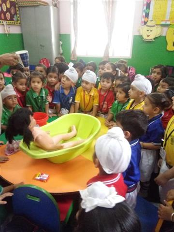 Doll bathing activity | AKSIPS 125 Chandigarh